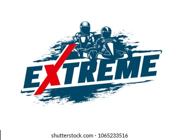 Extreme Sport. Go-Kart. Racing