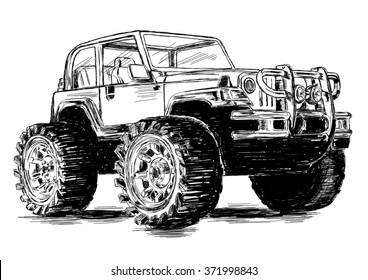 Extreme Sports - 4x4 Sport Utility Vehicle SUV Off Road Vektorgrafik