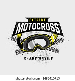 Extreme style motocross in dirt