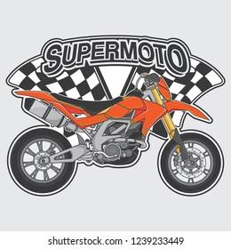 extreme supermoto design logo concept, vector EPS 10