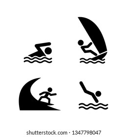 Extreme water sport icon, Summer and vacation concept. Vector illustration.