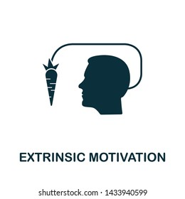 Extrinsic Motivation vector icon illustration. Creative sign from gamification icons collection. Filled flat Extrinsic Motivation icon for computer and mobile. Symbol, logo vector graphics.