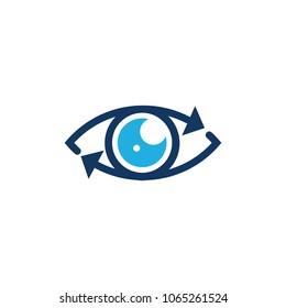 Eye Arrow Logo Icon Design