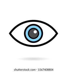 eye ball icon vector illustration