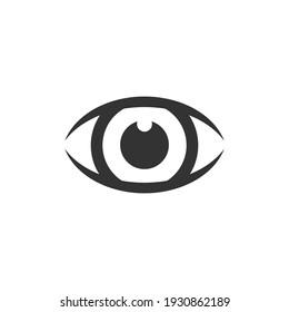 Eye ball icon vector logo design template.