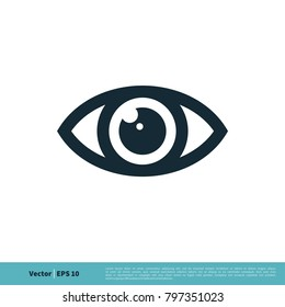 Eye Ball Icon Vector Logo Template Illustration Design. Vector EPS 10.