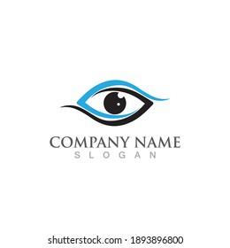 Eye care logo and symbol vector