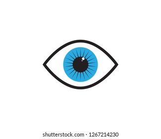 Eye care Logo Template design illustration