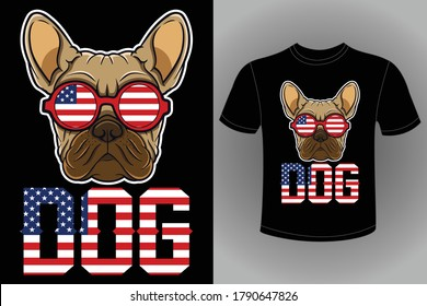 Eye Catching Dog T-Shirts Design Bundle - American Dog Design - Bulldog and Vector Doggy Pet for Dog and Cat Lover