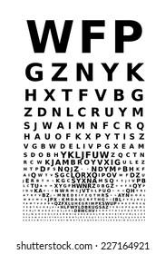 Eye Test Chart Images, Stock Photos & Vectors   Shutterstock