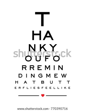 Eye Chart Print Design Vector Thank Stock Vector Royalty Free