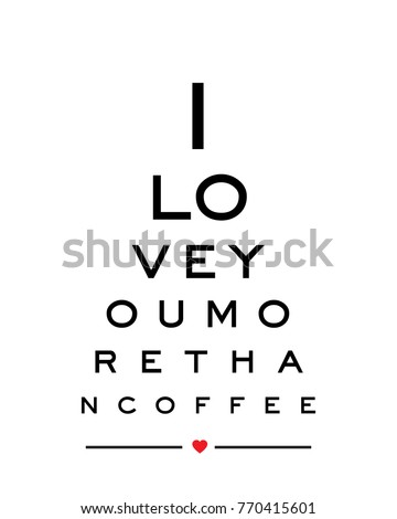 Eye Chart Snellen Wall Art Print Stock Vector Royalty Free