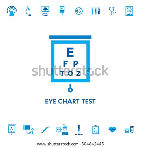 Eye Chart Test Diagnostic Vector Icon Stock Vektorgrafik Lizenzfrei