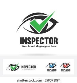 Eye Check Logo. Ophthalmologist Clinic Brand Identity.
