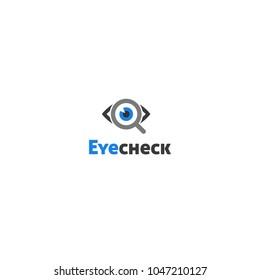Eye Check Logo Symbol Design