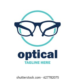 eye clinic / ophthalmic clinic / ophthalmology / optometrist logo with text space for your slogan / tagline, vector illustration
