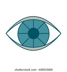 Eye color icon. Flat vector cartoon illustration. Objects isolated on a white background.