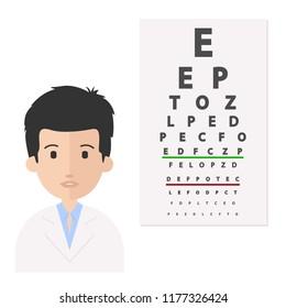 Eye doctor vector illustration