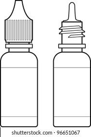 eye drops bottle line art
