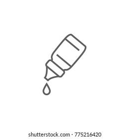Eye drops bottle thin line icon vector