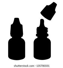 Eye drops  silhouette  vector