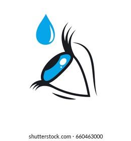 Eye drops. Stock vector