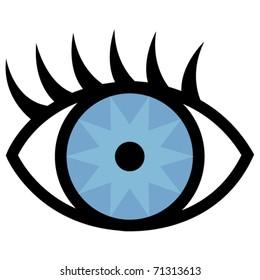 Eye and eyelashes.
