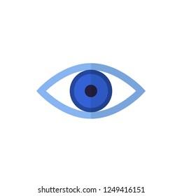 eye flat vector icon