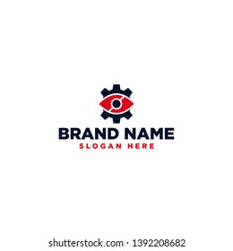 Eye gear logo modern design template