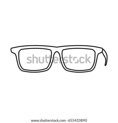 0afdc639a2 Eye Glasses Hipster Style Frames Icon Stock Vector (Royalty Free ...