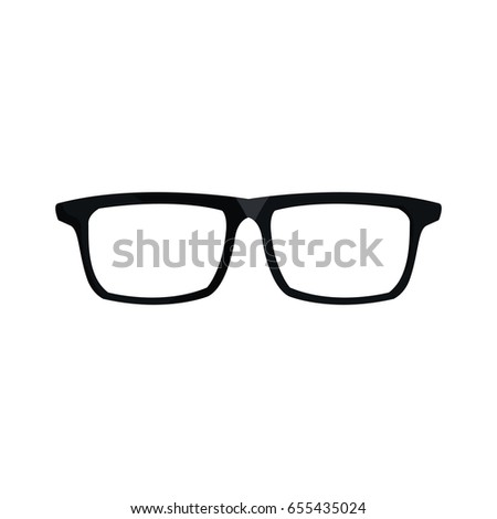 c390400abe5 Eye Glasses Hipster Style Frames Icon Stock Vector (Royalty Free ...