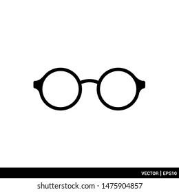 Eye Glasses icon vector illustration logo template. EPS 10