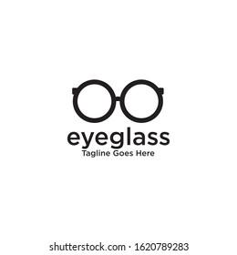 Eye glasses logo design icon vector template