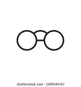 Eye glasses minimal style Icon vector Eps10