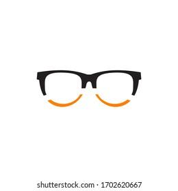 Eye glasses optic logo design vector template