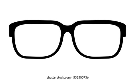 Eye glasses vector icon. Hipster glasses vector icon.