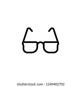 Eye glasses vector icon in line/outline style