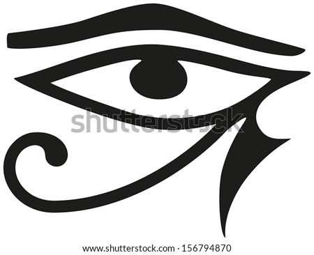 Eye Horus Eye Horus Ancient Egyptian Stock Vector Royalty Free