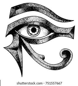 eye of horus dot work vector file