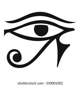 Eye of Horus Egypt Deity icon. Simple illustration of eye of Horus Egypt Deity vector icon for web