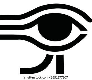 Eye of Horus icon. Ancient Egypt Eye Symbol Vector on White Background