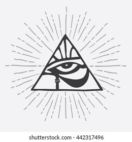 Eye Triangle Images Stock Photos Vectors Shutterstock