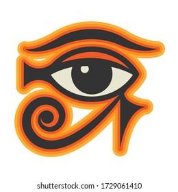 Eye of Horus sign, vector illustration