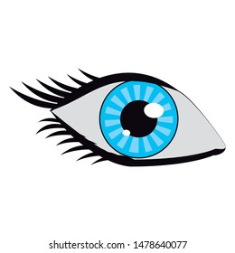 eye human vision pupil view isolated cartoon vector illustration graphic design