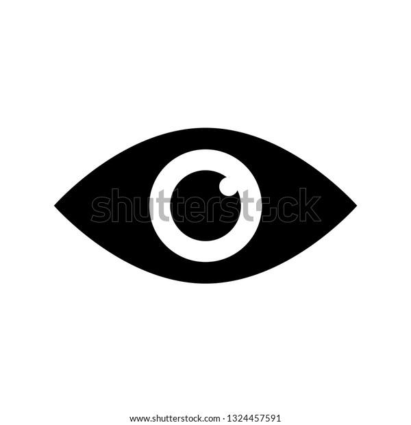 Eye Icon Black Simple Black Eye Stock Vector Royalty Free 1324457591