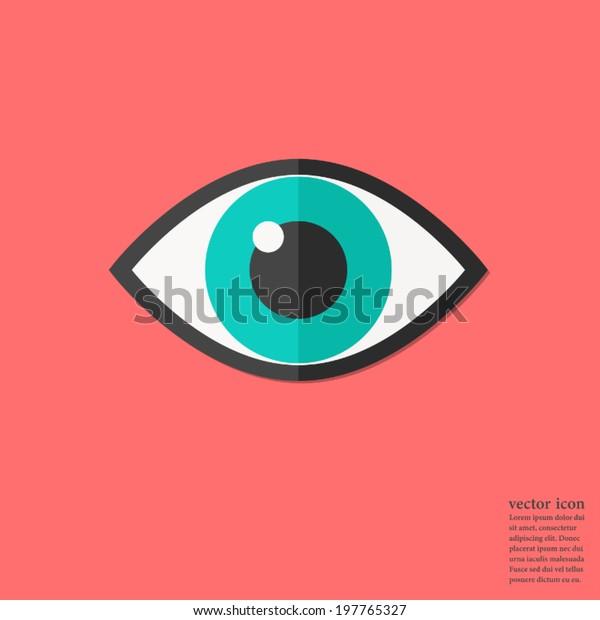 Eye icon design,Vector illustration flat design