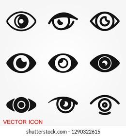 Eye icon, flat icon for logo, vector sign symbol