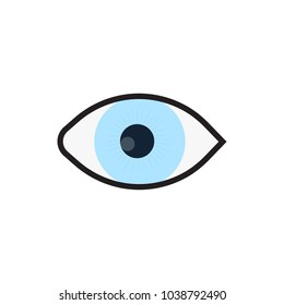 eye icon in flat style isolated vector illustration on white transparent background