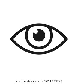 eye icon illustration with flat and color black and white