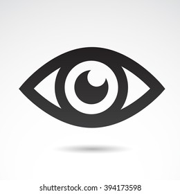 Eye icon isolated on white background. Vector illustration.